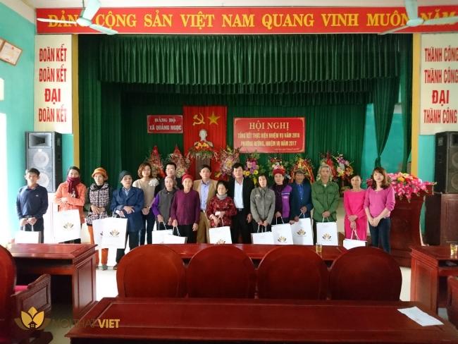 cong ty NTV tang qua gd chinh sach