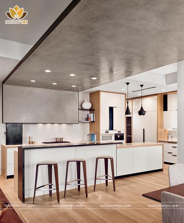 Phác họa cái nhìn tổng thể cho toàn không gian phòng bếp