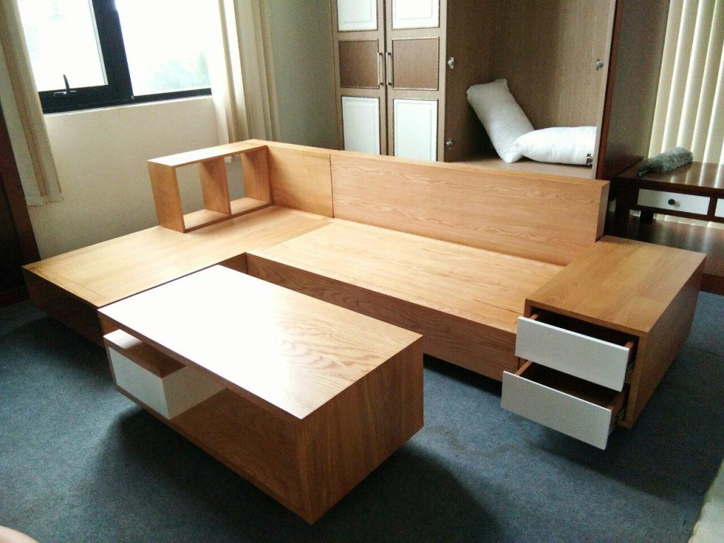 Bộ sofa văng gỗ