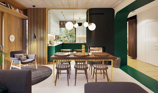 Thiết kế nội thất phòng bếp hài hòa