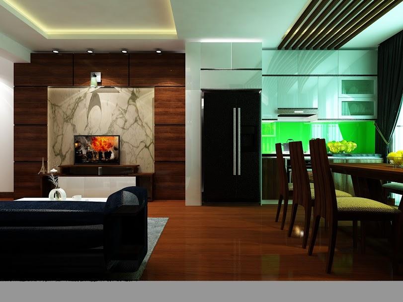 Thiết kế nội thất chung cư không gian mở