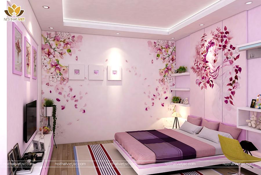 Phòng ngủ với trang trí ấn tượng