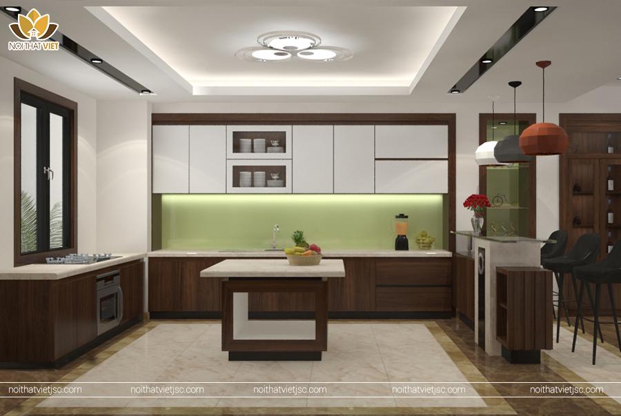 Tủ bếp hiện đại với công năng tối ưu