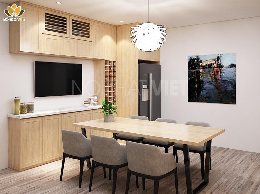 Lựa chọn sàn gỗ phù hợp với nội thất phòng bếp