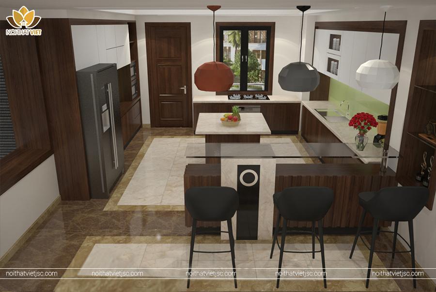 Thiết kế nội thất phòng bếp đa công năng