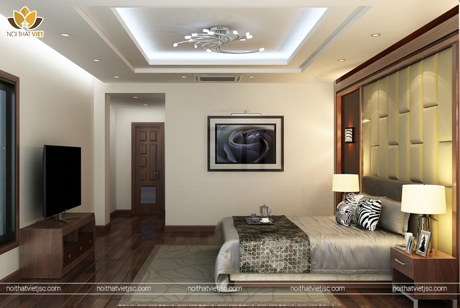 Thiết kế nội thất phòng ngủ master sang trọng