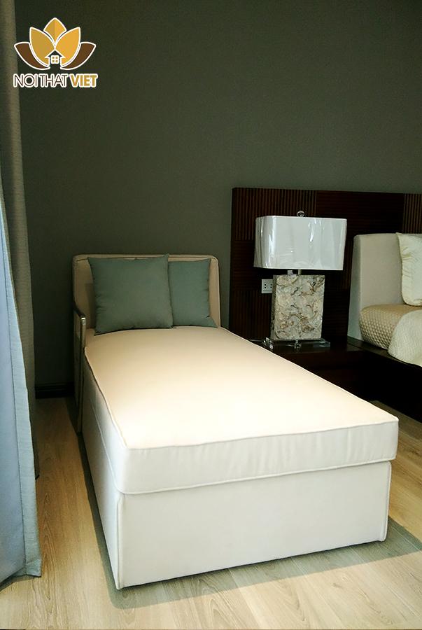 Giường phụ bọc nỉ êm ái