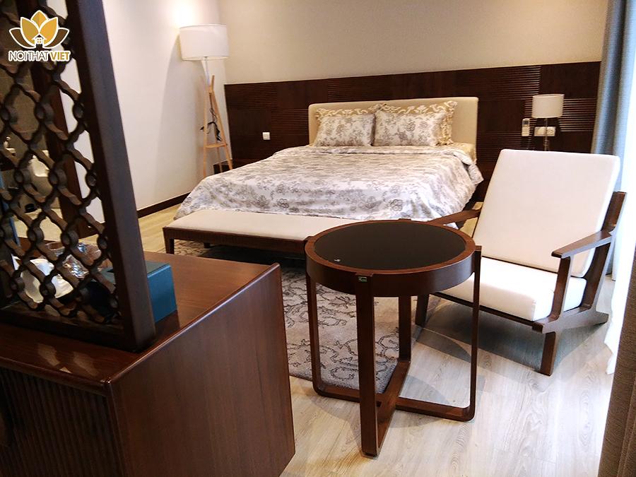 Nội thất phòng ngủ khách rộng rải, thoải mái, đầy đủ công năng