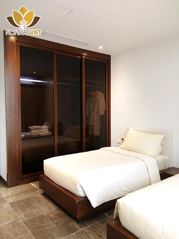 Nội thất phòng ngủ giúp việc sang trọng