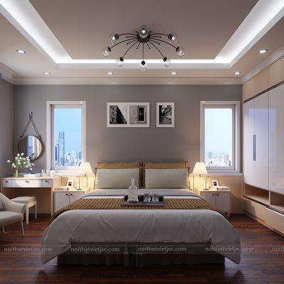 Thiết kế nội thất phòng ngủ đẹp hài hòa và hợp lý