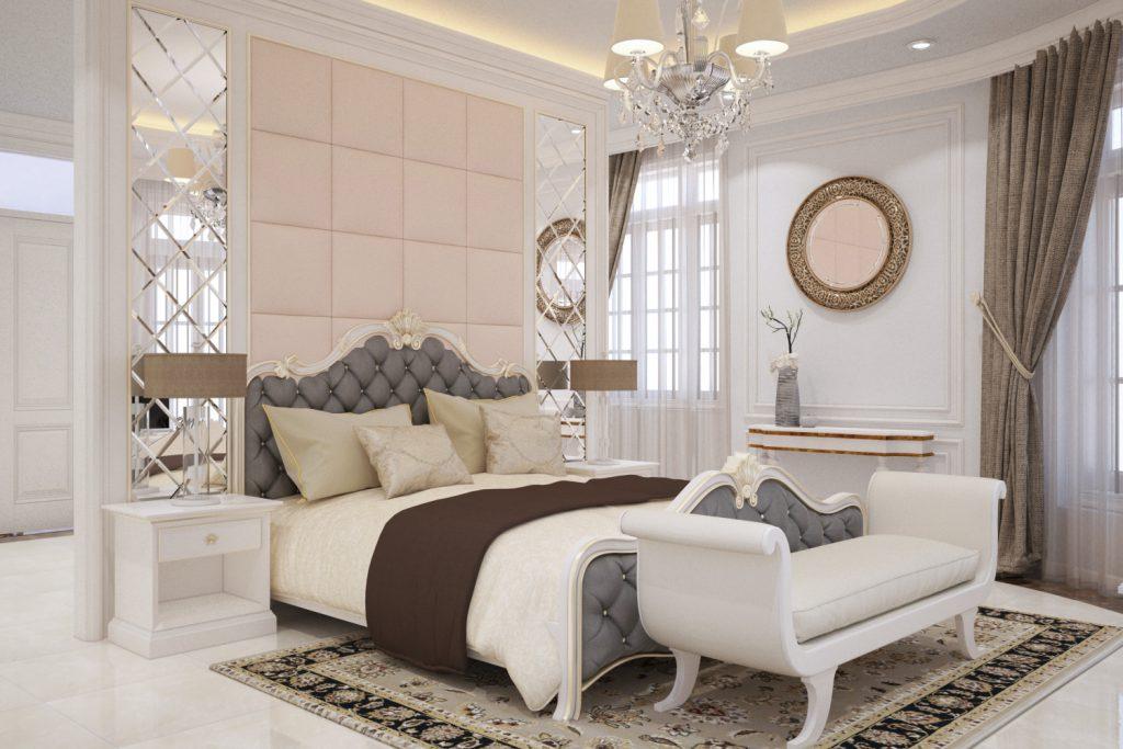 Thiết kế nội thất phòng ngủ gỗ công nghiệp hiện đại