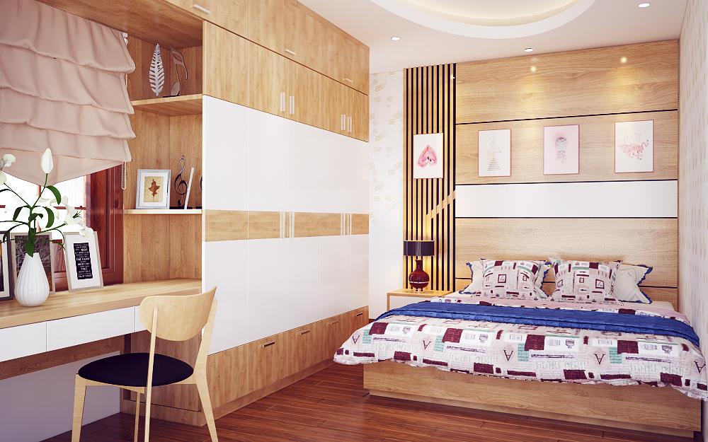 Điểm cộng cho thiết kế nội thất phòng ngủ hiện đại
