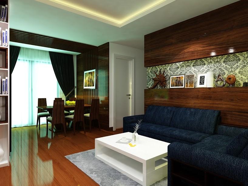 Thiết kế nội thất phòng khách sang trọng, lịch sự