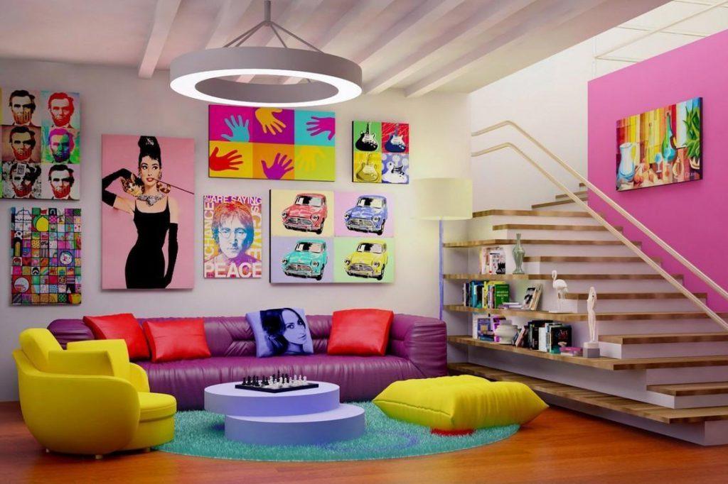 phong cách Pop- Art cho thiết kế nội thất phòng khách