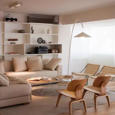 thiết kế nội thất tông trắng