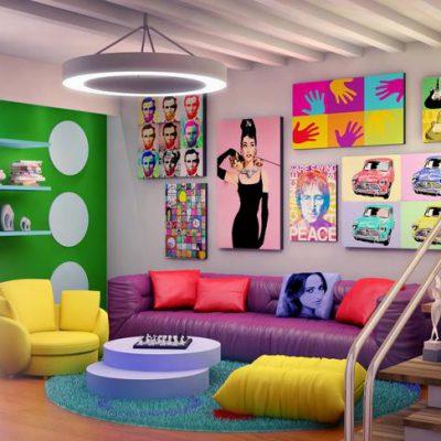 Thiết kế nội thất phòng khách đẹp, ấn tượng với phong cách Maverick