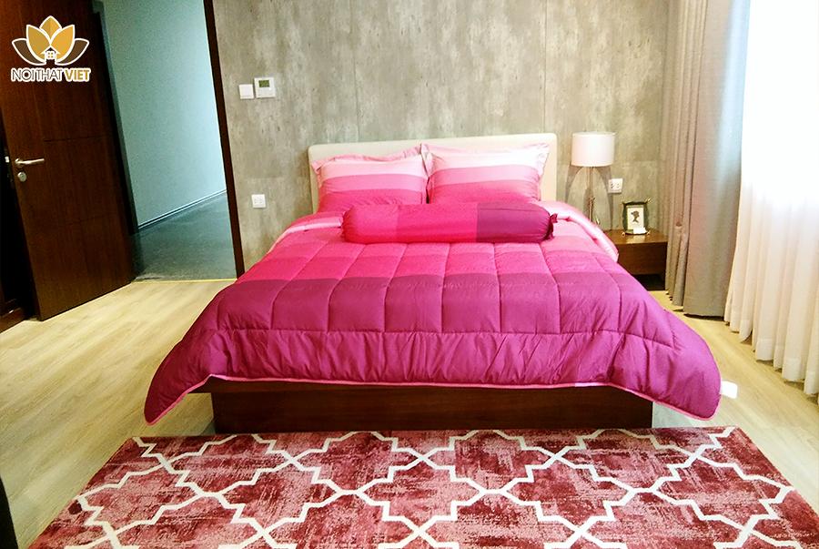 giường ngủ gỗ óc chó hiện đại