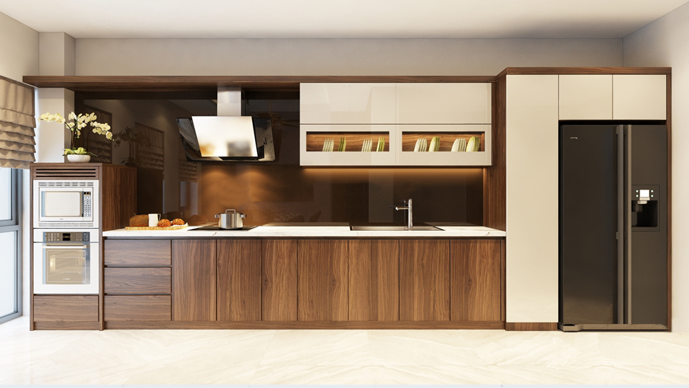 Mẫu tủ bếp sáng tạo- Tạo điểm nhấn cho không gian gia đình bạn