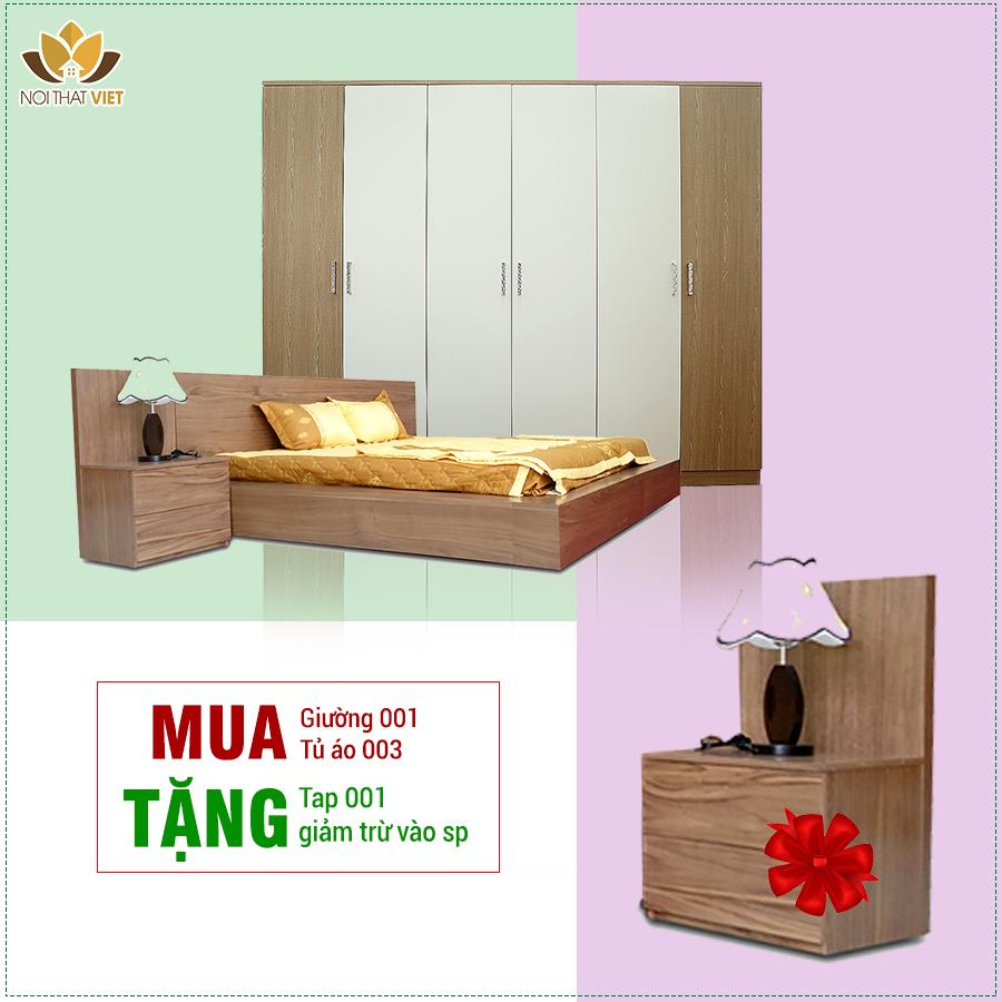 Bộ phòng ngủ gỗ công nghiệp