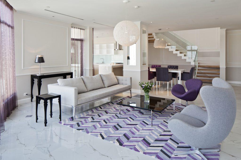 Thiết kế nội thất màu trắng ngà