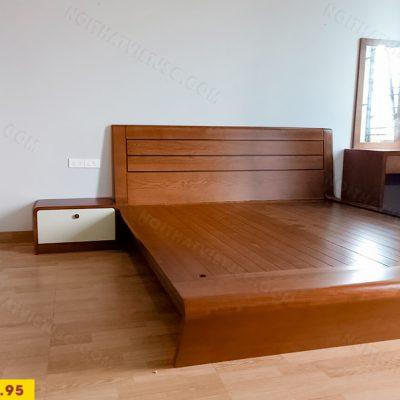 Bộ phòng ngủ veneer sồi cao cấp