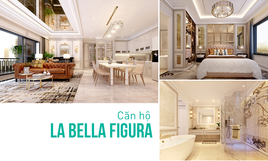 Thiết kế nội thất căn hộ phong cách Italy - Căn hộ La Bella Figura