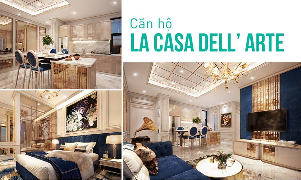 nội thất nhà đẹp hiện đại - căn hộ LA CASA DELL' ARTE