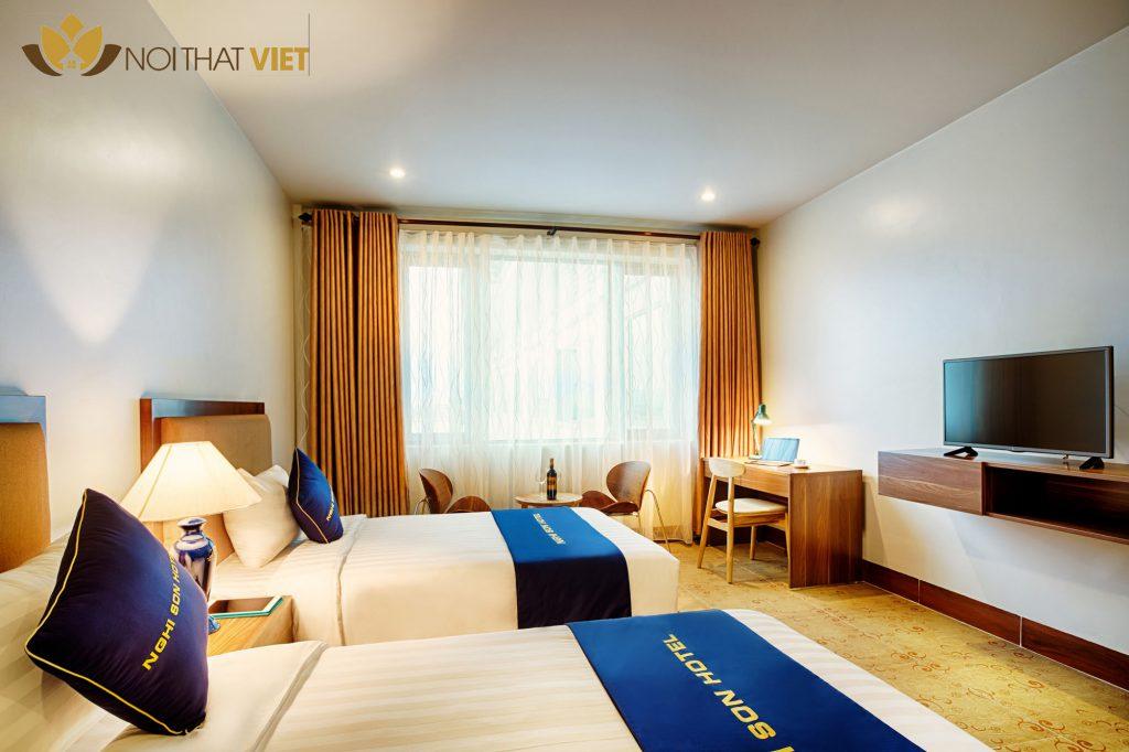 nội thất khách sạn phong cách tối giản