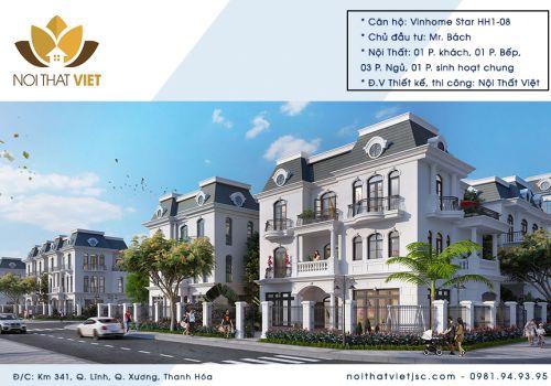 Thiết kế nội thất biệt thự Vinhomes Star City- Tiểu khu Hoa Hồng HH01