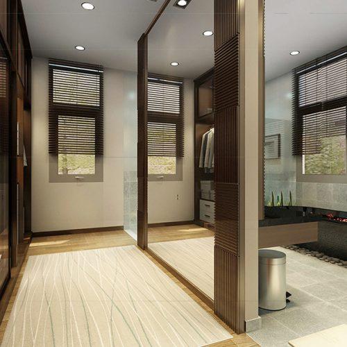 Thiết kế nội thất phòng tắm lớn
