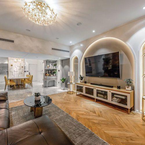 thiết kế nội thất phòng khách trang hoàng