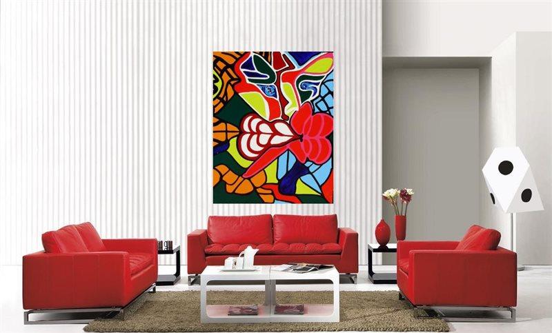 Màu đỏ trong thiết kế nội thất