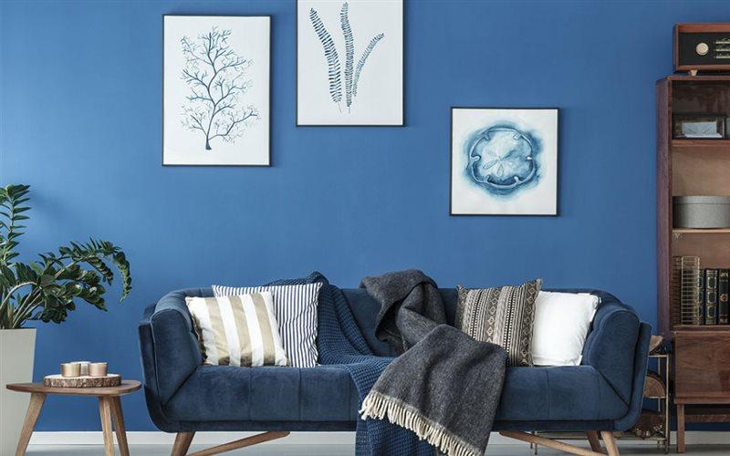 Màu xanh dương trong thiết kế nội thất