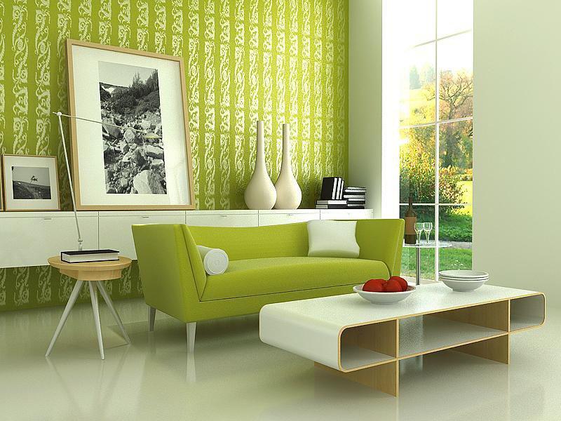 Màu xanh lá cây trong thiết kế nội thất